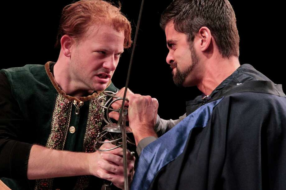 David Wald as Segismundo and Justin O'Brien as Astolfo at Main Street Theater in Life is a Dream. (Billy Smith II / Houston Chronicle) Photo: Billy Smith II / © 2012 Houston Chronicle