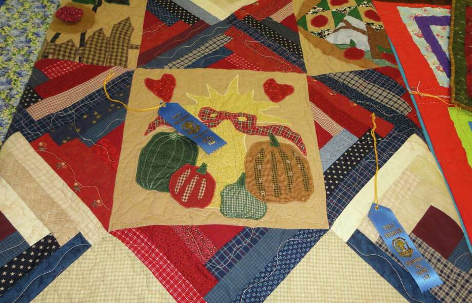 An award-winning hand-made quilt entered in the annual Greenfield Hill Grange Fair on Saturday, which celebrates Fairfield's agricultural history and handcraft skills of the past. Photo: Meg Barone / Fairfield Citizen freelance