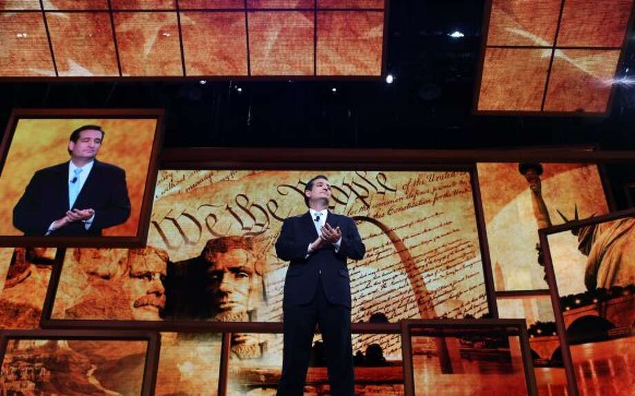 TAMPA, FL - AUGUST 28:  Senate Republican Candidate, Texas Solicitor General Ted Cruz speaks during the Republican National Convention at the Tampa Bay Times Forum on August 28, 2012 in Tampa, Florida. Today is the first full session of the RNC after the start was delayed due to Tropical Storm Isaac.  (Photo by Spencer Platt/Getty Images) (Spencer Platt / Getty Images)