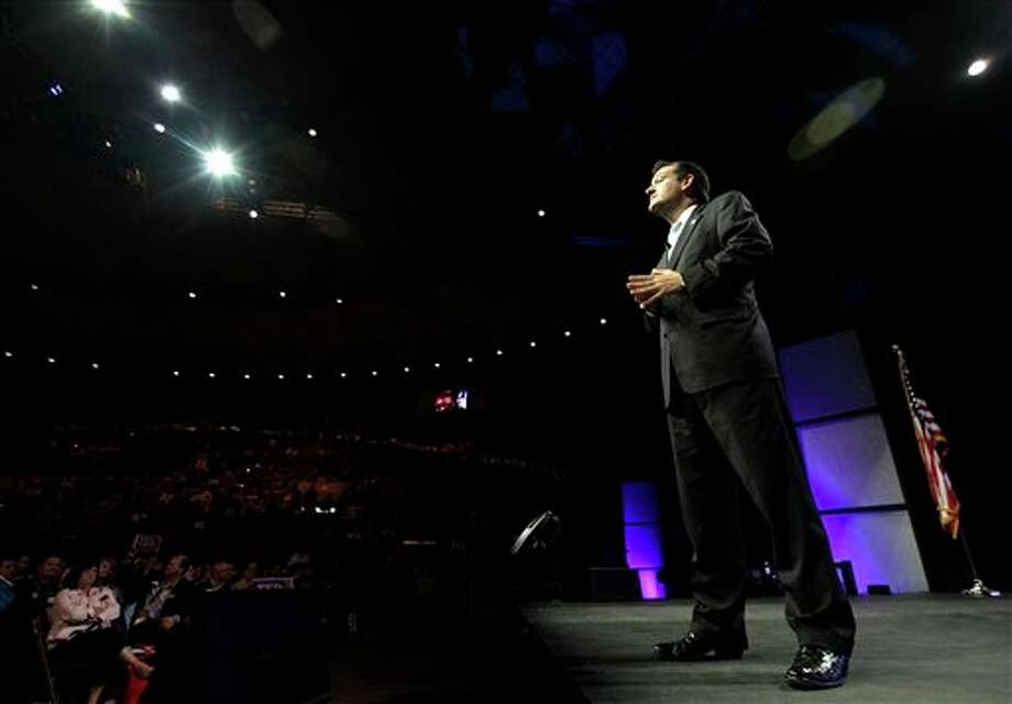 U.S. Senate Candidate Ted Cruz speaks during the Texas Republican Convention in Fort Worth, Texas,  Saturday, June 9, 2012. Photo: LM Otero, AP / AP