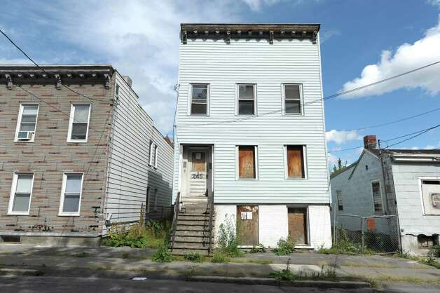 A view of a building at 245 Elk St.  seen here on Wednesday, Sept. 19, 2012 in Albany, NY.   (Paul Buckowski / Times Union) Photo: Paul Buckowski