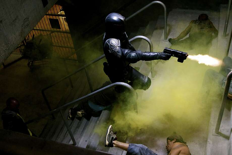 """Karl Urban stars in """"Dredd 3D,"""" but you never actually see his face. Photo: Ilze Kitshoff, Lionsgate"""