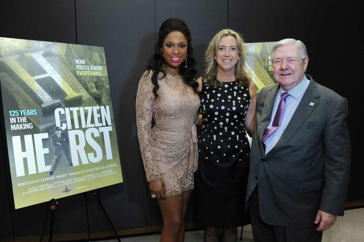 NEW YORK, NY - SEPTEMBER 18: (L-R) Jennifer Hudson, Director Leslie Iwerks and CEO of Hearst Corporation Frank A. Bennack Jr attend Hearst's 125th anniversary celebration and private screening of the new documentary
