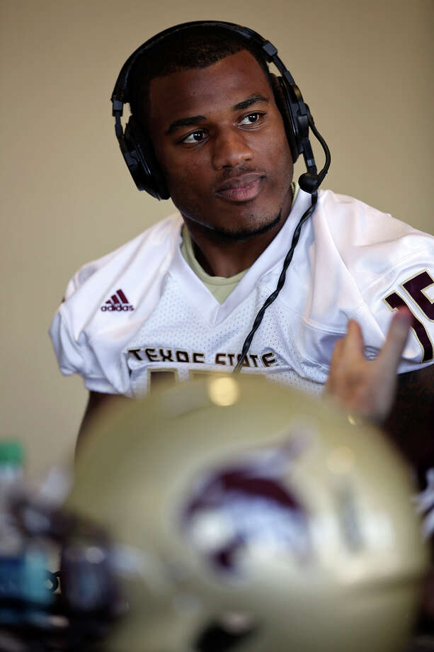 A bit player early in his career, fifth-year senior safety Jason McLean has evolved into one of Texas State's team leaders. Photo: Jerry Lara, San Antonio Express-News / © 2012 San Antonio Express-News