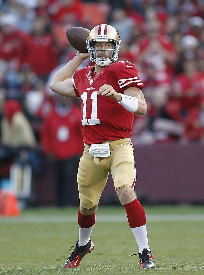 The 49ers' Alex Smith has become a very accurate passer. Photo: Tony Avelar, Associated Press