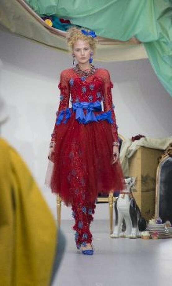 Models wear designs from the  Meadham Kirchoff collection. (ASSOCIATED PRESS)