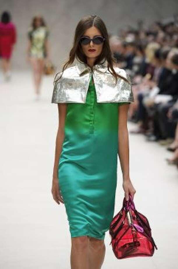 A model wears a design by Burberry Prorsum. (ASSOCIATED PRESS)