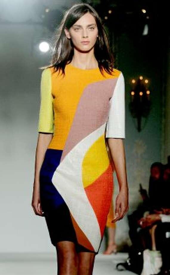 A model on the catwalk during the Roksanda Ilincic show. (AP)