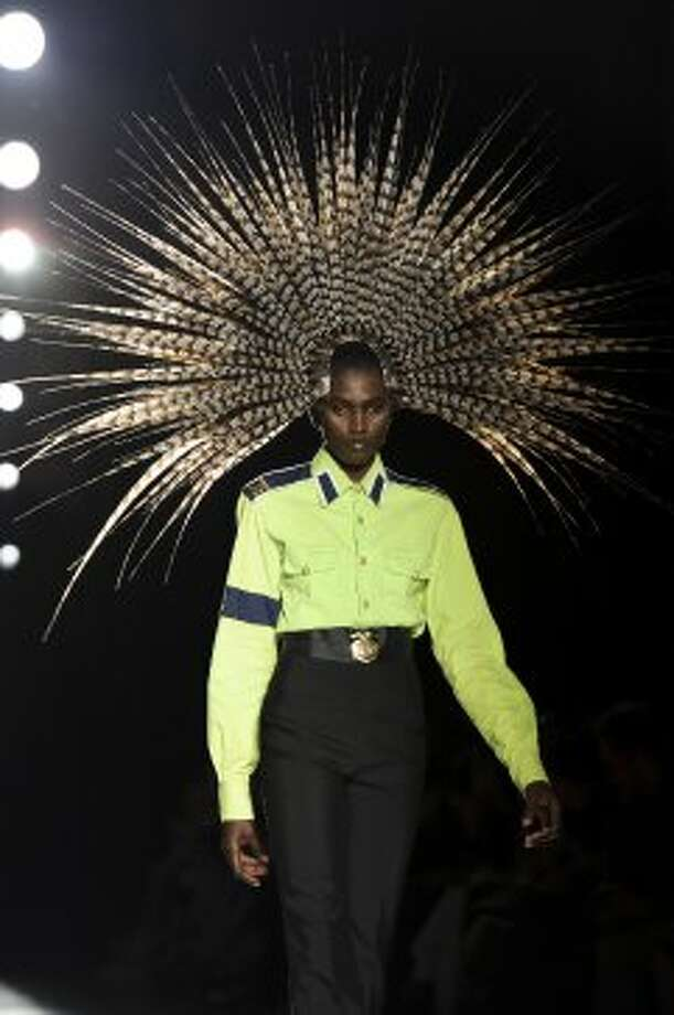 A model wears a design from the Philip Treacy collection. (ASSOCIATED PRESS)