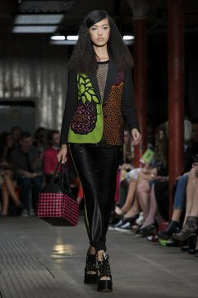 A model wears a design from the Moschino Cheap And Chic collection. (ASSOCIATED PRESS)