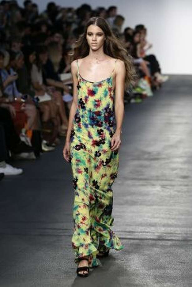 A model wears a creation by House of Holland. (ASSOCIATED PRESS)