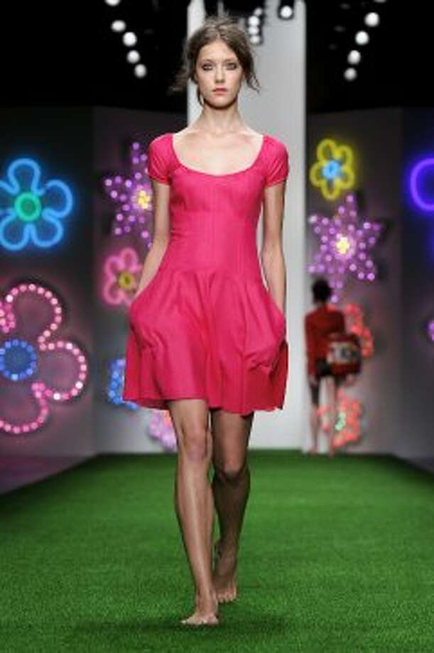 A model wears a design from the Jasper Conran collection. (ASSOCIATED PRESS)