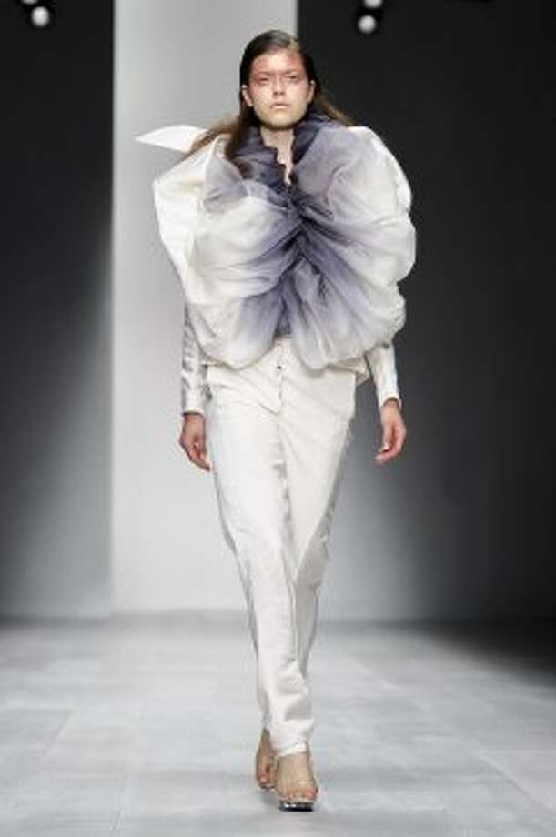 A model wears a design from the Corrie Nielsen collection. (ASSOCIATED PRESS)