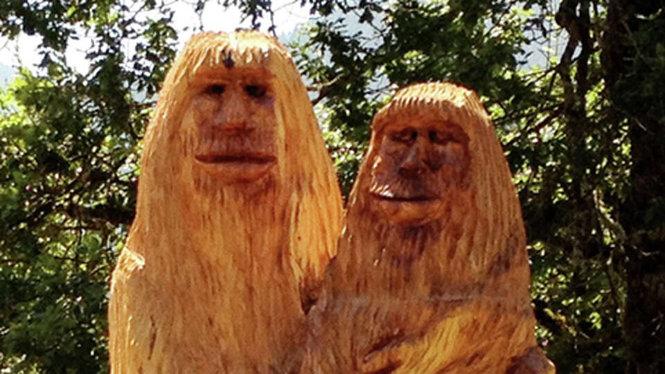 Say hello to this bigfoot family. Well, an artist's rendition of a bigfoot family.