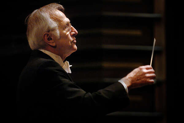 After more than 40 years as conductor of the Greater Bridgeport Symphony, Gustav Meier, seen here in 2007, is retiring.