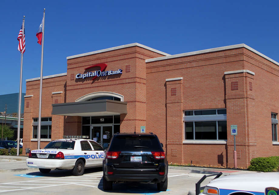 A Capital One Bank involved in a robbery is seen in the 150 block of Greens Road Thursday, Sept. 20, 2012, in Houston. Photo: Cody Duty, Houston Chronicle / © 2012 Houston Chronicle