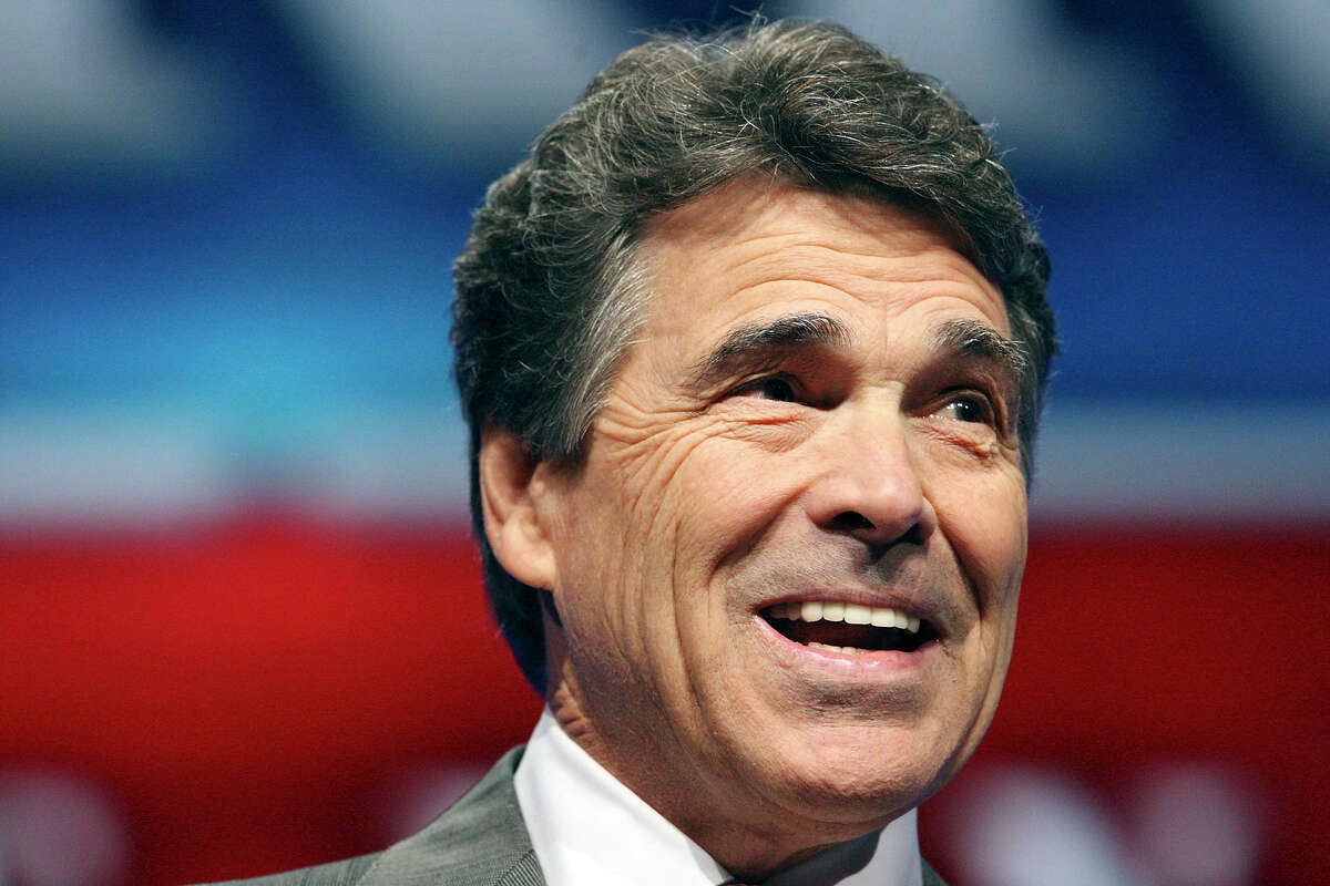 Gov. Rick Perry speaks during the 2012 Texas GOP Convention held at the Fort Worth Convention Center Thursday June 7, 2012 in Fort Worth, Texas.