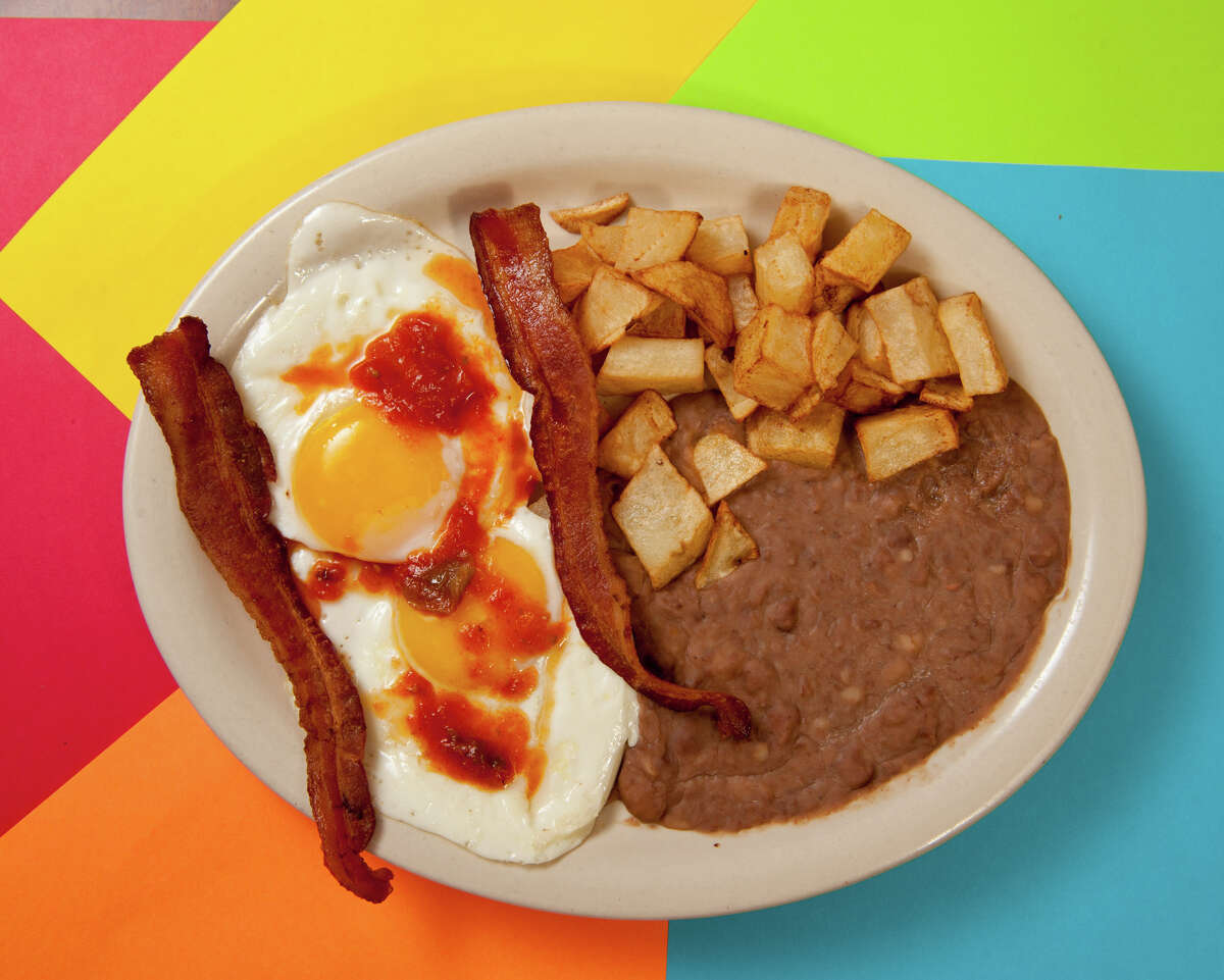 Patty's Taco House 2422 S. Hackberry St. 7.7 rating Huevos rancheros plate: $4.95