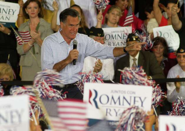 El presidente wannabe Mitt Romney was joking about his lack of support among Hispanics. Problem is, it's all in the delivery. Photo: J Pat Carter, Associated Press / AP