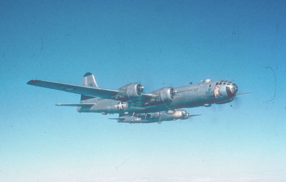B-29s fly a daytime mission in 1950 over North Korea. Photo: National Museum Of The U.S. Air Force
