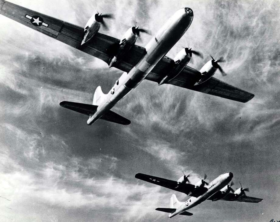 The B-29 had a wing span of 141 feet, 3 inches, was 99 feet long and weighed 105,000 pounds. It had a top speed of 365 mph, a cruising speed of 220 mph, a range of 5,830 miles and a ceiling of 31,850 feet. Photo: National Museum Of The U.S. Air Force