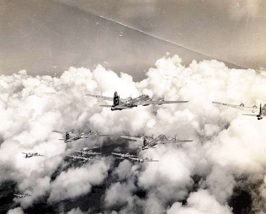 Boeing B-29 Superfortresses are shown in flight. Photo: National Museum Of The U.S. Air Force