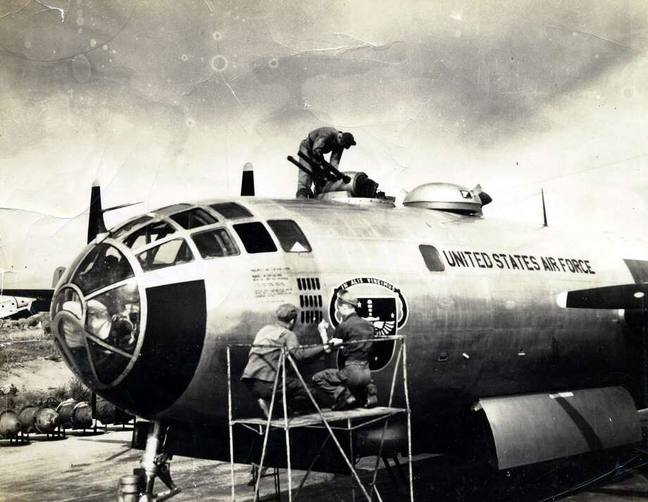 A crew works on a B-29. Photo: National Museum Of The U.S. Air Force
