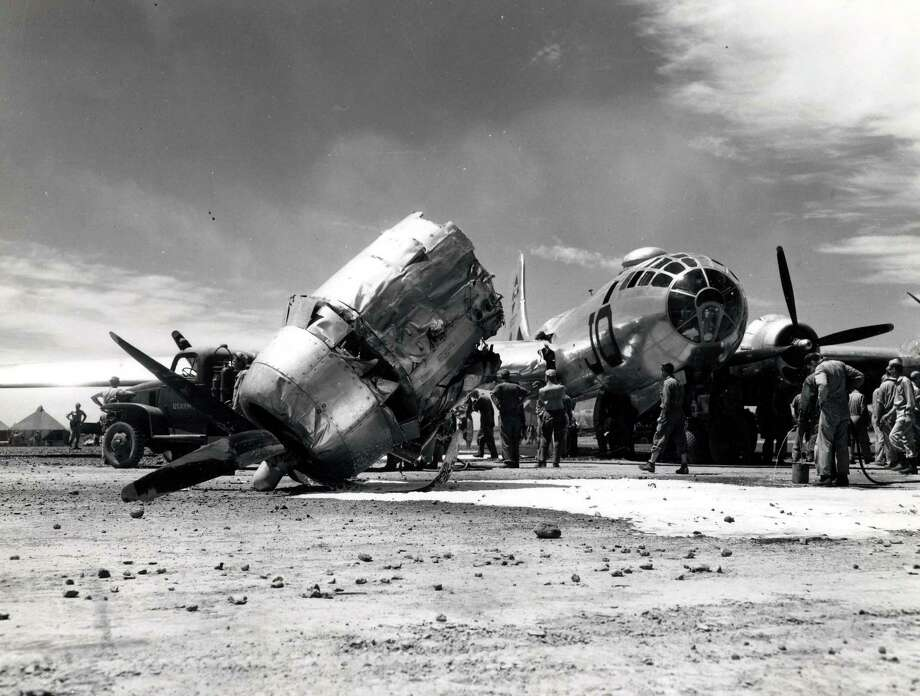A damaged B-29. Photo: National Museum Of The U.S. Air Force