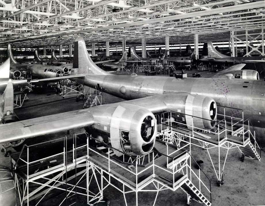 Boeing B-29 Superfortresses are shown in production. Photo: National Museum Of The U.S. Air Force