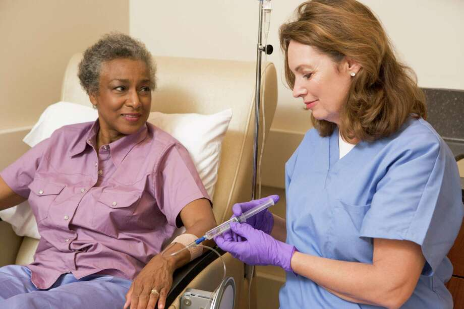 STAYING RELAXED: Chemotherapy infusion centers typically are furnished with comfortable recliners to help the patient feel comfortable during treatments that may last several hours. Photo: Monkey Business Images / iStockphoto