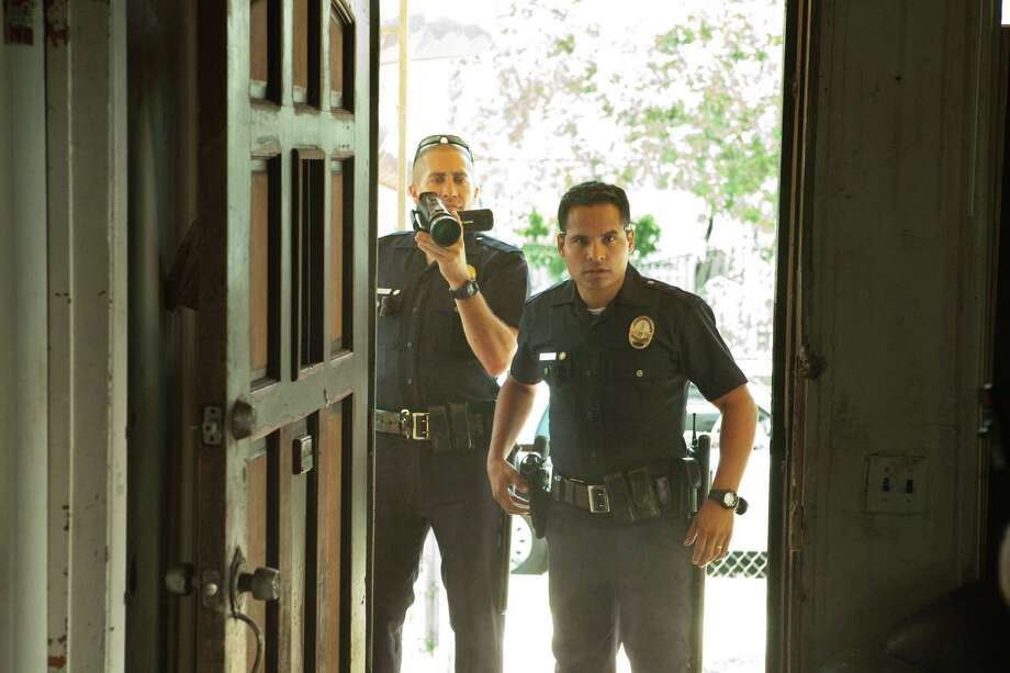 Scott Garfield/Open Road Films Jake Gyllenhaal, left, and Michael Pena in End of Watch Photo: Scott Garfield / © 2011 Sole Productions, LLC. All rights reserved.