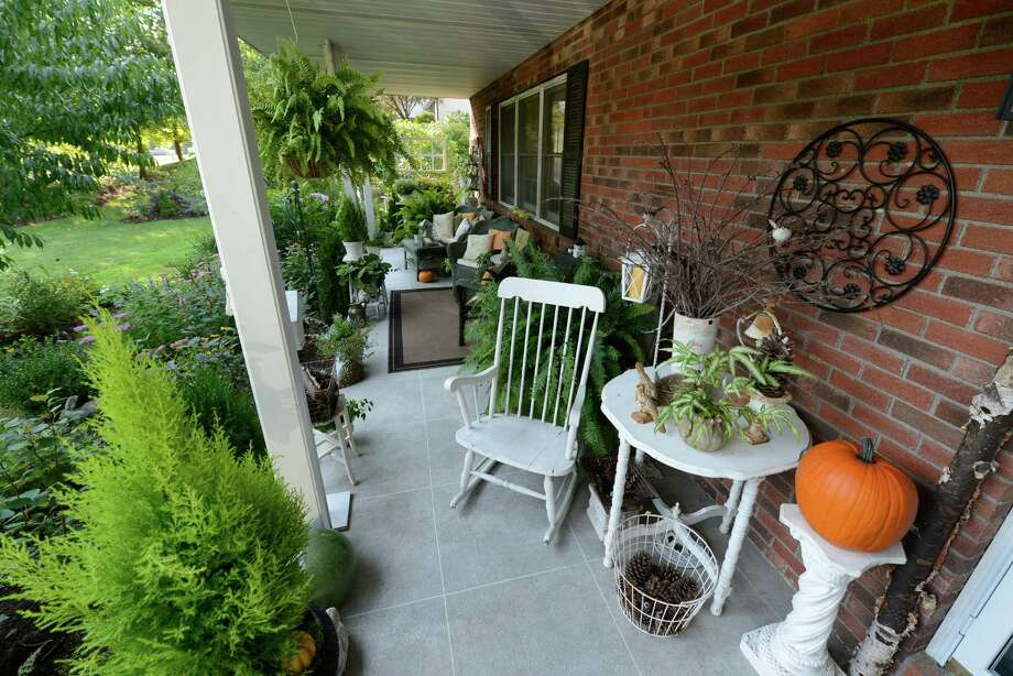 The front porch of the home of Jackie McClory in West Sand Lake, N.Y. Sept 14, 2012.   (Skip Dickstein/Times Union) Photo: Skip Dickstein / 00019257A
