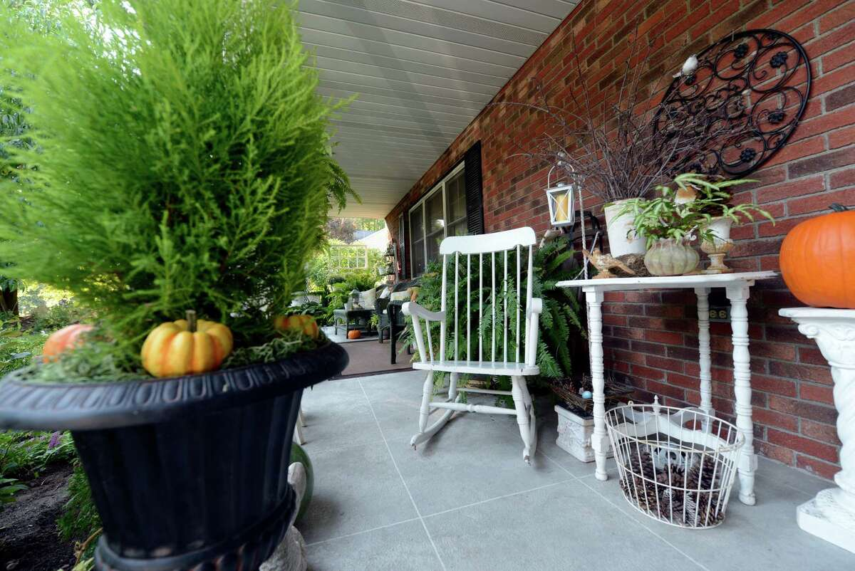 The front porch of the home of Jackie McClory in West Sand Lake, N.Y. Sept 14, 2012. (Skip Dickstein/Times Union)