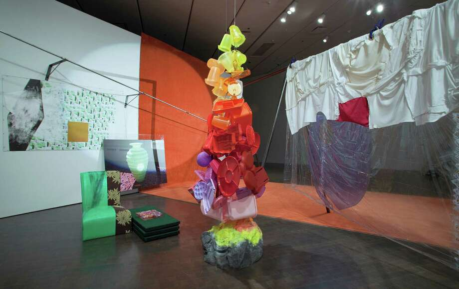 "Jessica Stockholder, ""Wide Eyes Smeared Here Dear,"" 2009, installation, Denver Art Museum. (Photo courtesy of the artist)"