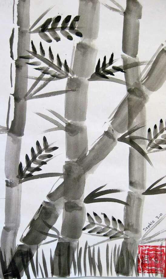 ?Chinese Brush Painting of Bamboo,? by Sophia Lenigk, Birchwood Elementary School. (Courtesy Niskayuna schools)