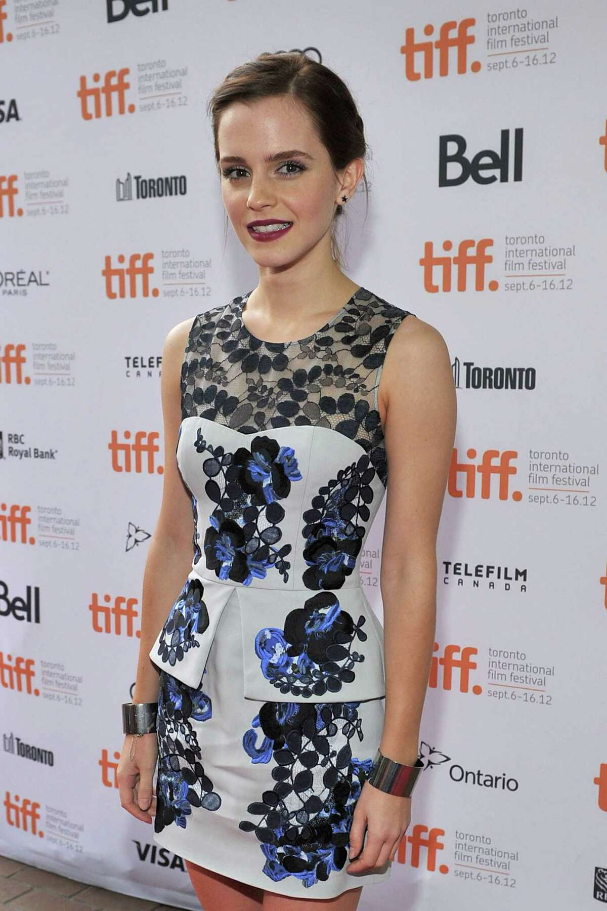 """TORONTO, ON - SEPTEMBER 08: Actress Emma Watson attends """"The Perks Of Being A Wallflower"""" premiere during the 2012 Toronto International Film Festival at Ryerson Theatre on September 8, 2012 in Toronto, Canada. (Photo by Sonia Recchia/Getty Images)"""