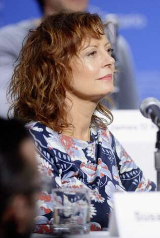 "TORONTO, ON - SEPTEMBER 09:  Actress Susan Sarandon speaks onstage at the ""Cloud Atlas"" Press Conference during the 2012 Toronto International Film Festival at TIFF Bell Lightbox on September 9, 2012 in Toronto, Canada.  (Photo by Jason Merritt/Getty Images) Photo: Jason Merritt / 2012 Getty Images"