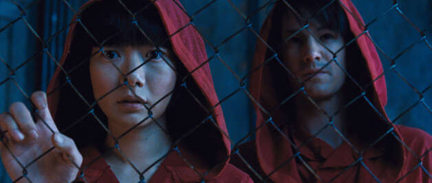 Doona Bae and Jim Sturgess in Cloud Atlas (Courtesy TIFF)