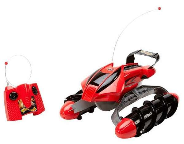 Hot Wheels Remote Control Terrain Twister Vehicle, $99.99, ages 8-10.Equipped with pontoons sporting corkscrew-shaped treads rather than wheels, this vehicle zips across snow, water, dirt, grass and other tricky terrains to ride off into any adventure!