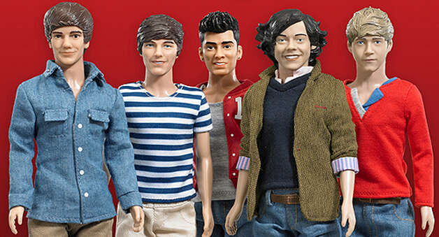One Direction Dolls, $19.99 each, ages 5 and up. Collectors dolls based on the members of the British-Irish boy band, One Direction: Niall Horan, Zayn Malik, Liam Payne, Harry Styles and Louis Tomlinson.