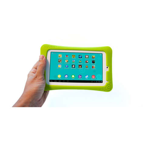 Tabeo, $149.99, ages 3 and up. It's like an iPhone for kids with a multi-touch screen, WiFi-connectivity, and more than 7,000 free educational apps that you can download.