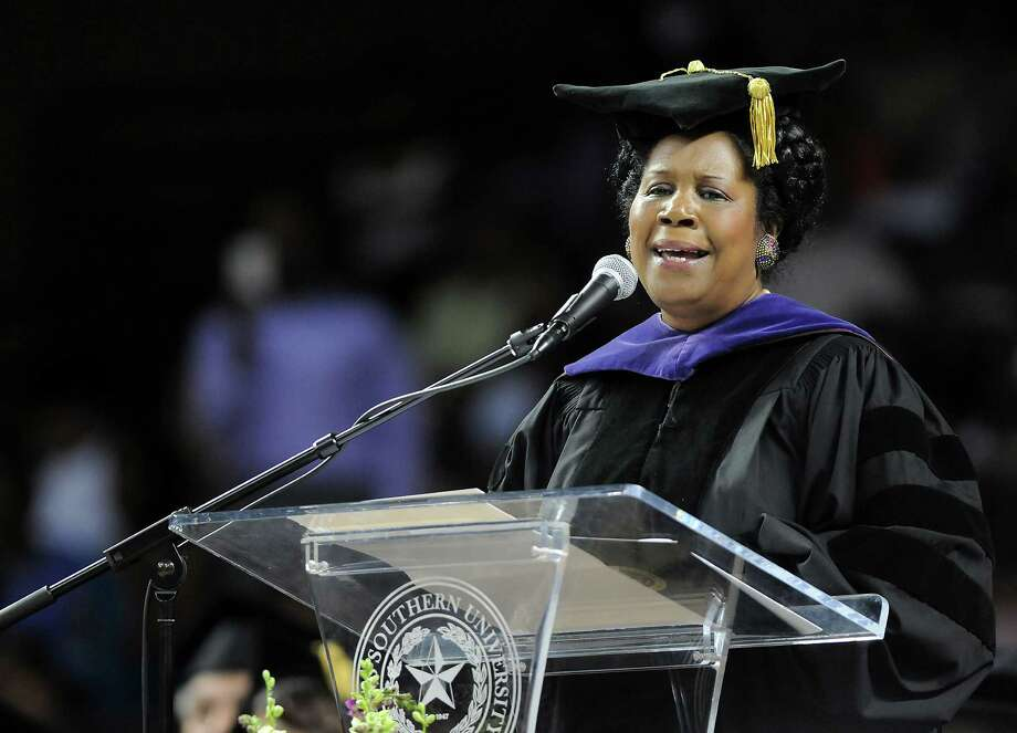 Congresswoman Sheila Jackson Lee speaks at the Texas Southern University Spring Commencement Saturday May 14, 2011. Photo: Dave Rossman, For The Chronicle / © 2011 Dave Rossman