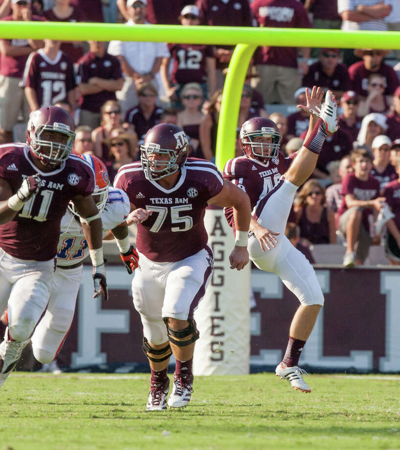 Texas A&M punter Ryan Epperson on Saturday, Sept. 8, 2012 vs. Florida. Photo: J. Patric Schneider / Texas A&m, Courtesy Photo / © 2012 J. Patric Schneider