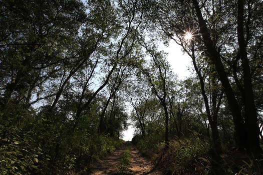 The sun sparkles through a tree line along a trail at the Helton San Antonio Nature Park - an extension of the Saspamco Paddling Trail - that is overseen by the San Antonio River Authority (SARA) on Thursday, Sept. 20, 2012. The paddling trail is now open for public use and snakes along a 12-mile stretch of the San Antonio River. In two weeks, SARA will host a public opening event at the 99-acre nature park which is situated at the end of the paddling trail in Wilson County. The start of the paddling trail is about 20 miles from downtown San Antonio. Photo: Kin Man Hui, SAN ANTONIO EXPRESS-NEWS / ©2012 San Antonio Express-News