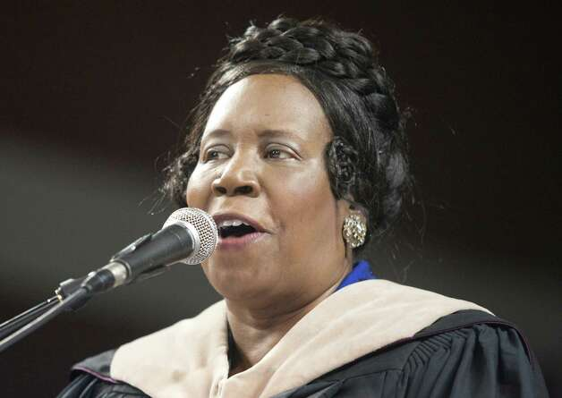 Congresswoman Sheila Jackson Lee speaks during graduation ceremonies at Texas Southern University on Saturday, May 12, 2012 in Houston. Photo: J. Patric Schneider, For The Chronicle / Houston Chronicle