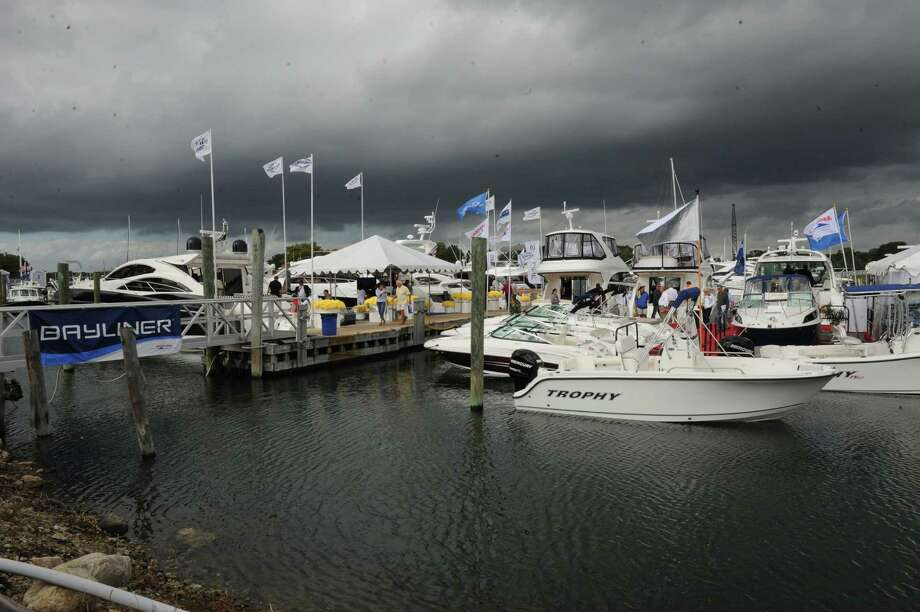 The Norwalk Boat Show, a in-water boat show, runs Thursday through Sunday September 20-23, 2012 10am-6pm daily. Photo: Helen Neafsey / Greenwich Time