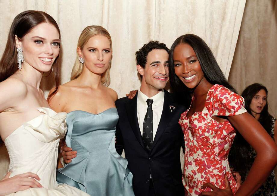 Models Coco, Karolina Kurkova, designer Zac Posen and model Naomi Campbell Photo: Amy Sussman / Invision
