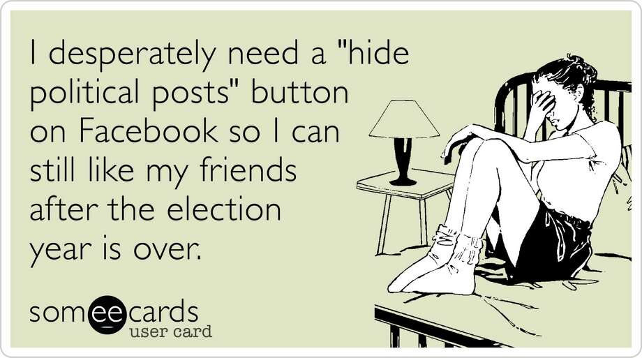 Facebook users have started posting these ecards, which were designed by users on Someecards.com. Photo: -