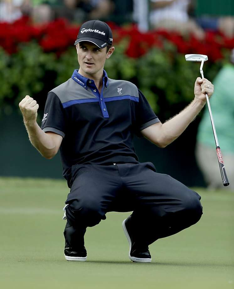 Justin Rose grabbed a share of the lead at the Tour Championship. Photo: David Goldman, Associated Press