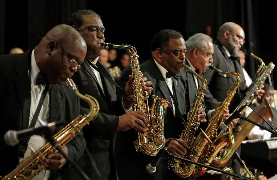 The Kashmere Reunion Stage Band performs at 3 p.m. Saturday at the Menil Collection's public birthday party. Photo: Melissa Phillip / © 2011 Houston Chronicle